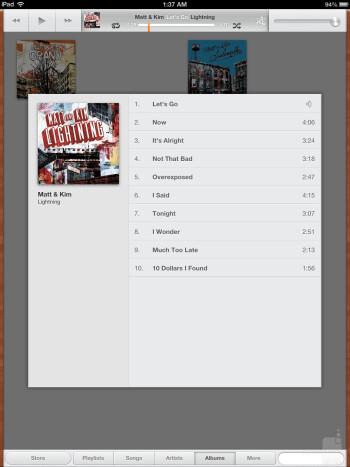 The Apple iPad 4's music player - Microsoft Surface Pro vs Apple iPad 4
