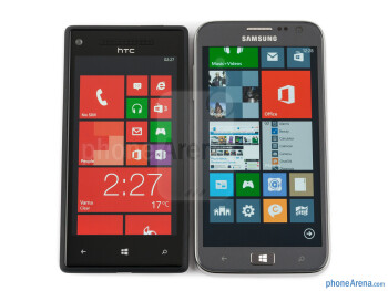 The Samsung ATIV S (right) and the HTC Windows Phone 8X (left) - Samsung ATIV S vs HTC Windows Phone 8X