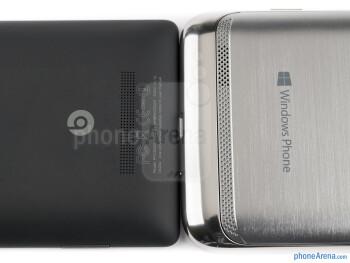 Speaker grills - The Samsung ATIV S (right) and the HTC Windows Phone 8X (left) - Samsung ATIV S vs HTC Windows Phone 8X