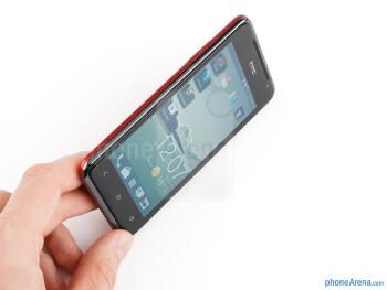 The HTC J feels sturdy as should a waterproof device - HTC J Review