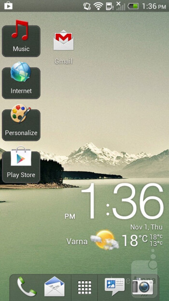 The HTC J comes with the Sense 4.1 UI - HTC J Review
