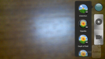 The camera interface of the HTC J - HTC J Review