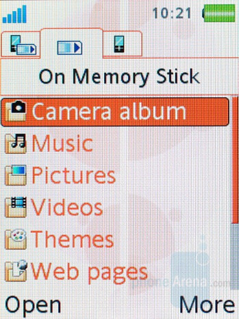 File explorer - Sony Ericsson W880 Review