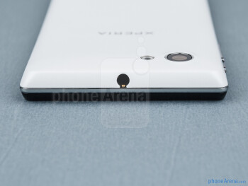 3.5mm jack (top) - The sides of the Sony Xperia J - Sony Xperia J Review
