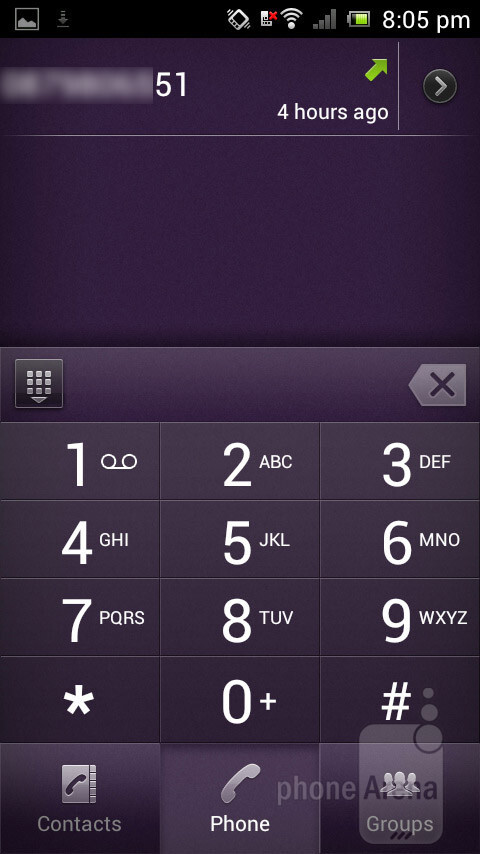 Dialer - Sony Xperia J Review