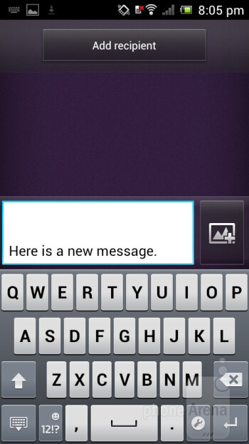 Virtual keyboard - Sony Xperia J Review