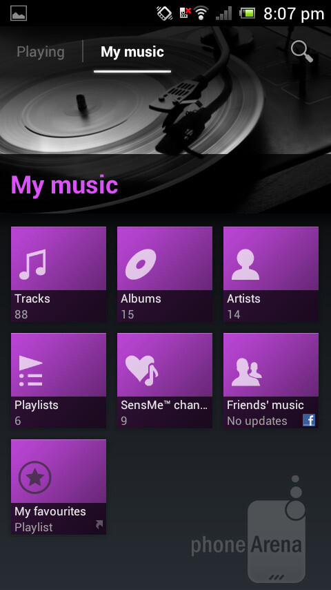 The WALKMAN-branded music player of the Sony Xperia J - Sony Xperia J Review