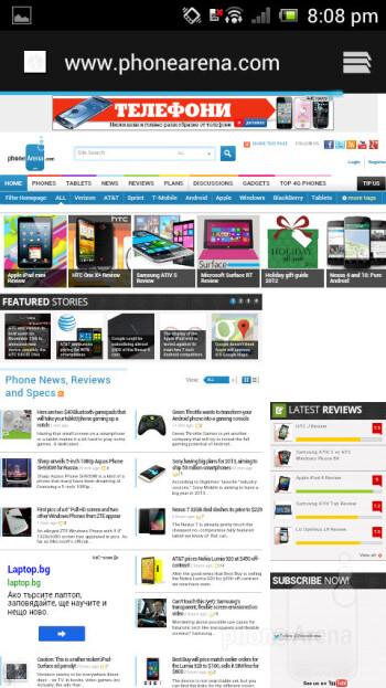 Surfing web - Sony Xperia J Ulasan