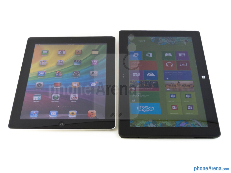 The Apple iPad 4 (left) and the Microsoft Surface RT (right) - Apple iPad 4 vs Microsoft Surface RT