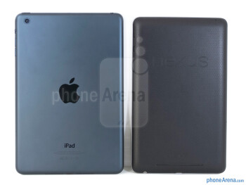 Backs - The Apple iPad mini (left) and the Google Nexus 7 (right) - Apple iPad mini vs Google Nexus 7