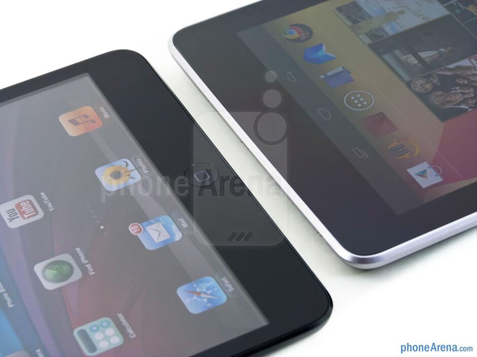 The Apple iPad mini (left) and the Google Nexus 7 (right) - Apple iPad mini vs Google Nexus 7