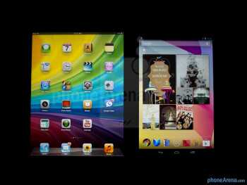 Viewing  angles - Color productionThe Apple iPad mini (left) and the Google Nexus 7 (right) - Apple iPad mi