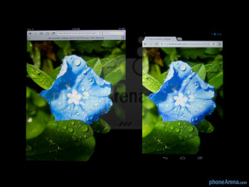 Color productionThe Apple iPad mini (left) and the Google Nexus 7 (right) - Apple iPad mini vs Google Nexus 7