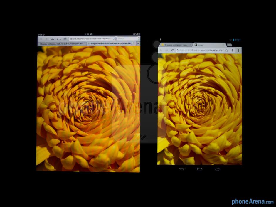 Color productionThe Apple iPad mini (left) and the Google Nexus 7 (right) - Apple iPad mini vs Google Nexus 7