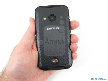 The Samsung Galaxy Rugby feel a bit chunky in the hand - Samsung Galaxy Rugby Pro Review