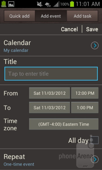 E-mail and calendar - Samsung Galaxy Rugby Pro Review