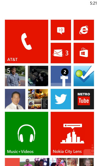 The UI of the Nokia Lumia 920 - Nokia Lumia 920 vs Samsung Galaxy S III