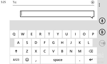 On-screen keyboard of the Nokia Lumia 920 - Nokia Lumia 920 vs Samsung Galaxy S III