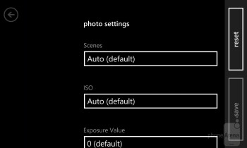 The camera interface of the platform - Nokia Lumia 920 vs HTC Windows Phone 8X