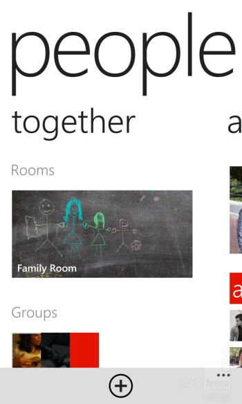 The People hub of the Nokia Lumia 920 - Nokia Lumia 920 vs Samsung Galaxy S III