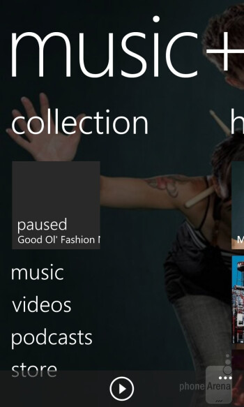 The music player of the Nokia Lumia 920 - Nokia Lumia 920 vs Apple iPhone 5
