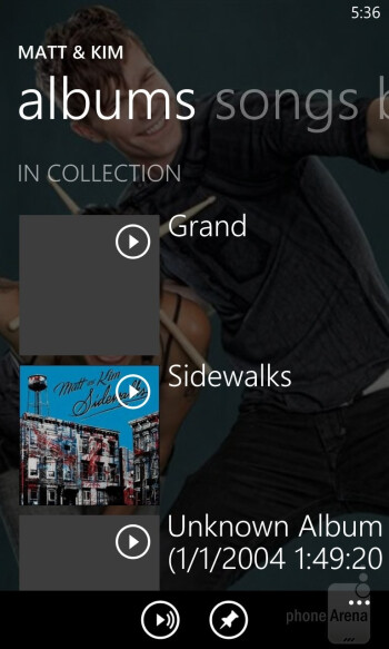 Music player - Nokia Lumia 920 vs HTC Windows Phone 8X