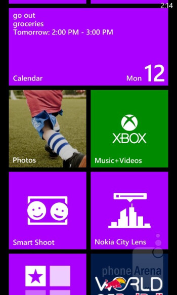 The standard Windows Phone 8 experience can be found on the Nokia Lumia 820 - Nokia Lumia 820 Review