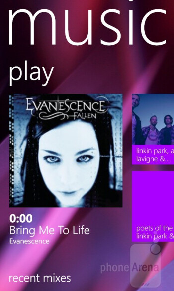 The Music player - Nokia Lumia 820 Review