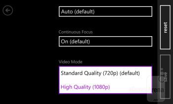 The Nokia Lumia 820 uses the standard Windows Phone 8 camera interface - Nokia Lumia 820 Review