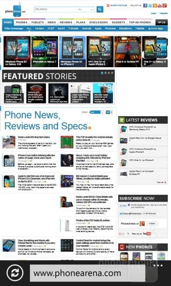 Internet Explorer 10 - Nokia Lumia 820 Review