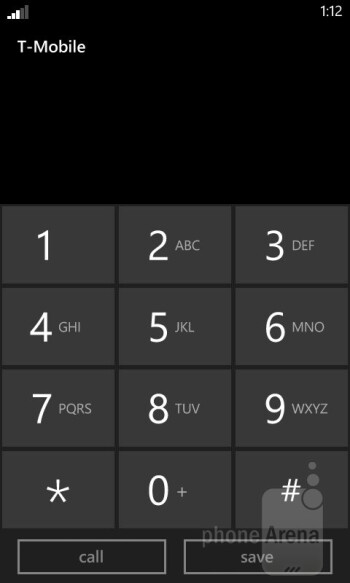 Dialer - Core organizer apps - On-screen keyboards - Nokia Lumia 810 Review