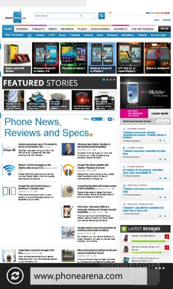 Surfing the web with the Nokia Lumia 810 - Nokia Lumia 810 Review