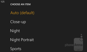 Camera interface - Nokia Lumia 810 Review
