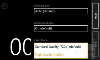 Camera interface - Nokia Lumia 810 Review