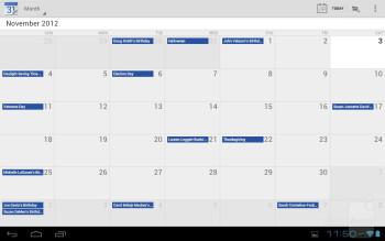 Calendar - Lenovo IdeaTab S2110A Review