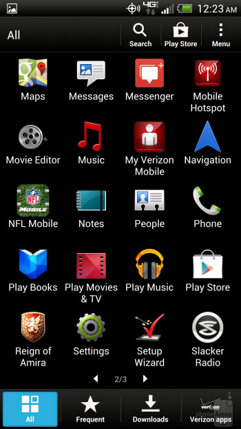 App drawer - HTC DROID DNA Review