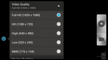 Camera interface of the HTC DROID DNA - HTC DROID DNA vs Samsung Galaxy S III