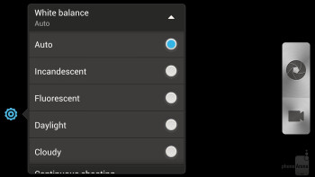 Camera interface - HTC DROID DNA Review