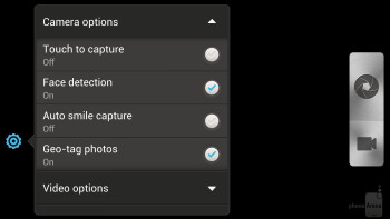 Camera interface of the HTC DROID DNA - HTC DROID DNA vs Samsung Galaxy Note II