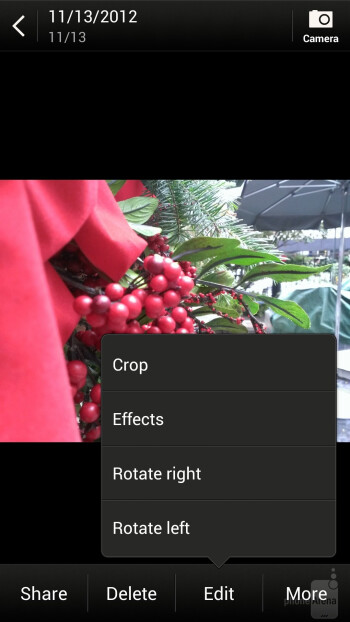The Gallery app - HTC DROID DNA Review