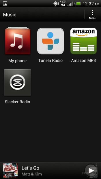 The Sense music player of the HTC DROID DNA - HTC DROID DNA vs Apple iPhone 5