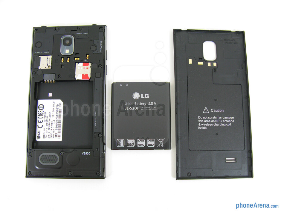 Battery compartment - LG Spectrum 2 Review