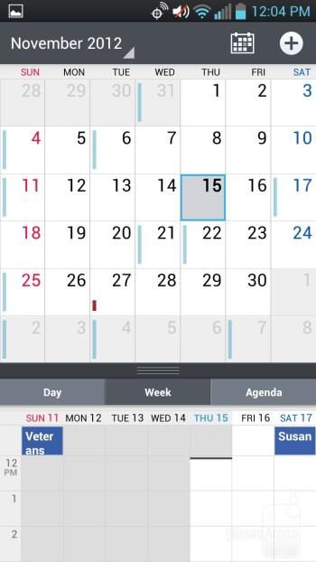 Calendar - LG Spectrum 2 Review