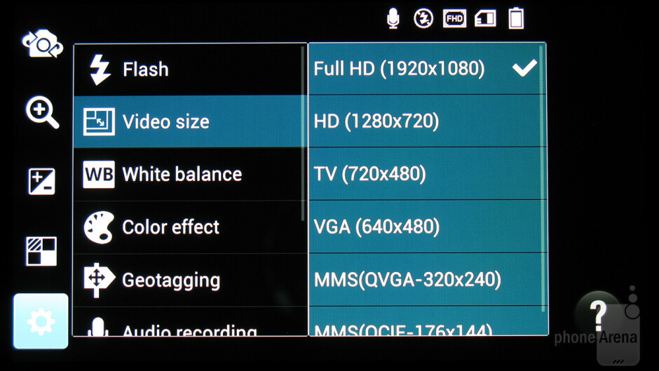 Camera interface - LG Spectrum 2 Review