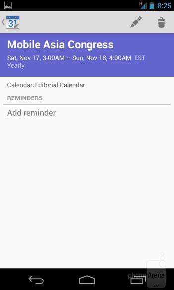 Core organizer apps on the Google Nexus 4 - Google Nexus 4 vs Samsung Galaxy S III