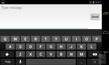 The on-screen keyboard on the Google Nexus 4 - Google Nexus 4 vs Samsung Galaxy S III