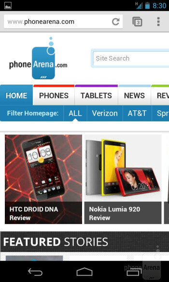 Web browsing with the Google Nexus 4 - Google Nexus 4 Review