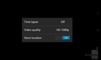 Camera interface of the Google Nexus 4 - Google Nexus 4 vs HTC DROID DNA