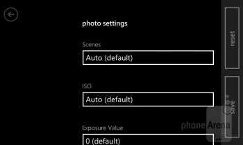 Camera interface - Nokia Lumia 822 Review