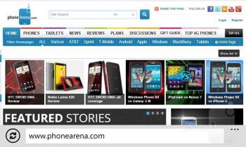 Web browsing with the Nokia Lumia 822 - Nokia Lumia 822 Review